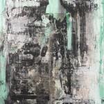 Malecòn III. 2013. Akrüül, kollaaž, lõuend, 200x160