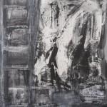 Malecòn VIII. 2013. Akrüül, kollaaž, lõuend, 200x160