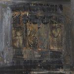 LA VICTORIA.  2014. Acrylic, collage on canvas, 135x150